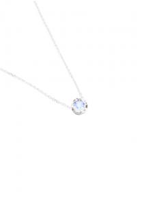 Sdori 藍光月光石925純銀項鍊- 玫瑰金