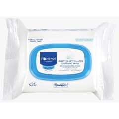 Mustela-Cleansing Wipes (25 sheets) Mustela_2916