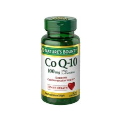 Nature's Bounty - 自然之寶 - 輔酶 Q-10 (添加左旋肉鹼) 100毫克