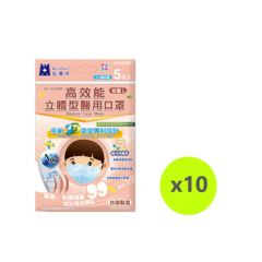 Blue Eagle 3D SS N95 medical face mask 5pcs/bag - Blue NP-3DSSMP5X10BLUE
