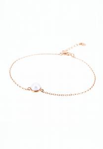 Sdori 半圓托正圓珍珠純銀手鍊 - 玫瑰金