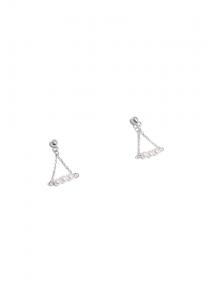 Sdori 極細水珍珠純銀耳環 - 純銀