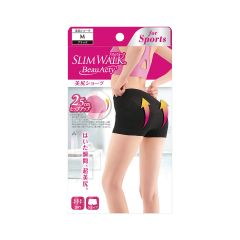 Slimwalk BeauActy Compression Shorts for Sports (Black)[Made in Japan] - M