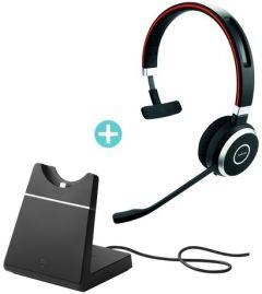 Jabra Evolve 65 MS 單耳無線耳機 連USB充電座