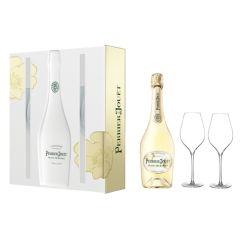 巴黎之花 - 白中白香檳連2杯禮盒 pjbdb_2g_set