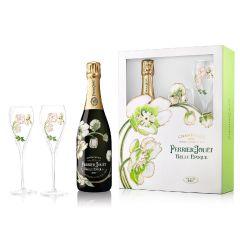 巴黎之花 - 美麗時光香檳連2杯禮盒 - JS92 pjbe_2g_set