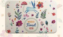 吉田家 - 北歐風彩繪硅藻土吸水地墊(奇幻森林)
