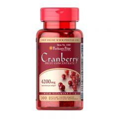 Puritan's Pride 小紅莓濃縮果汁4;200毫克(含維生素C + E) 100粒 [有效日期 6/20]