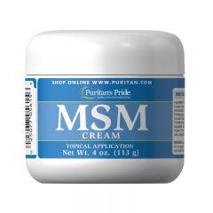 Puritan's Pride MSM CREAM 4 Oz(EXP: 8/2020) + MSM Glucosamine Cream 4 Oz(EXP:1/2021) Puritan5615-60502