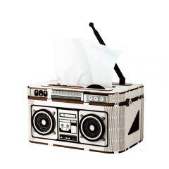Robotime - DIY DESK ORGANIZER Rock Radio TG15 Tissue Box