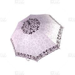 梁蘇記 - 纖維骨自動長雨傘 - 紫荊花