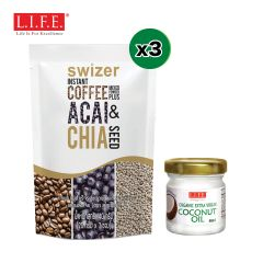 SWIZER - Grab-N-Go Superfood Coffee + Extra Virgin Organic Coconut Oil SCAC3_FB40