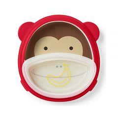Skip Hop - Zoo Smart Serve Plate & Bowl - Monkey SH252227
