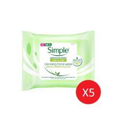 SIMPLE 水潤潔淨濕紙巾 7 wipes x 5包 SIM-005A_5