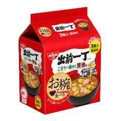[ DIRECT FROM JP] NISSIN Soy Sauce Flavored Bowl Noodles 102g (3 packs) SKU_07881