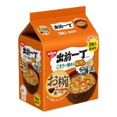 [ DIRECT FROM JP] NISSIN Miso Flavor Bowl Noodles 108g (3 packs) SKU_07882