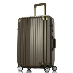 Wescott Plus 拉鍊硬殼行李箱 (鈦金色)