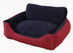 Convene - Checkered pet bed (Red) SL180209219