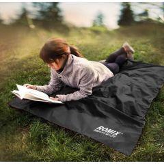 Romix 便攜式可摺叠野餐墊 -黑色(M)