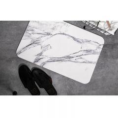 吉田家 - 時尚雲石紋硅藻土速乾消臭浴室地墊(60*39cm)