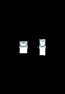 Sdori 天空藍托帕石長方石純銀耳環 - 純銀