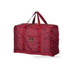 日本 SWANY x HELLO KITTY 可摺式輕巧手提袋 - FLORAL MONOGRAM (L) 酒紅色 SWT-33610
