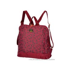 日本 SWANY x HELLO KITTY 輕巧背包 - FLORAL MONOGRAM 酒紅色 SWT-33712