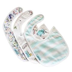 Tiny Twinkle - Feeding Bib 3pcs Set - Ocean Stripe/Zool Animal/Pollock TT-1101
