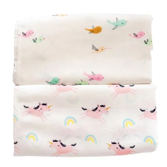 Tiny Twinkle - Swaddle Blanket 2pcs Set - Ocean Stripe/Zool Animal TT-1135