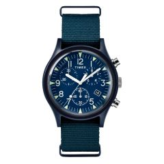 Timex MK1 Aluminum Chronograph 40mm Fabric Watch - Navy TW2R67600