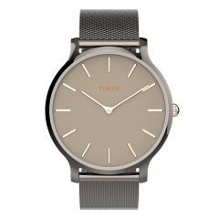 Timex TRANSCEND™ 38毫米不銹鋼網狀錶帶-銅色/黑色 TW2T74000