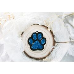 Therese Pet Accessories 閃粉滴膠大掌印 VTGP002-P-Blue