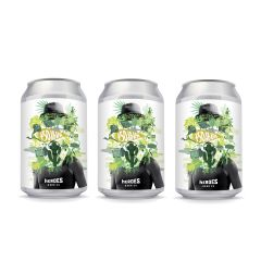 Heroes Cereusly +50dB IPA 果香草香美式IPA 香港本地手工啤酒 330ml 3罐裝 W00369