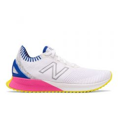 New Balance Womens Fuelcell Echo White with UV Blue & Peony