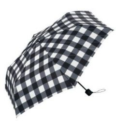 W.P.C. Unnurella 日本滴水不沾摺雨傘 (黑白格仔) WPCU_Foldable_BB