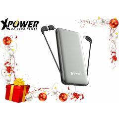 (Clublike會員免費雷雕刻名服務) XPower PD10X Type-C PD & QC 外置充電器 (灰色) (支援快充iPhone XS