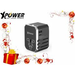 Xpower TA4PD 42W Type-C PD & QC3.0 Travel Adapter (Black/Silver) XP-TA4PD-BKSI