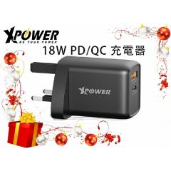 XPower WC2PC 18W PD Charger-Black(XP-WC2PC-BK) XP-WC2PC-BK