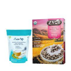 L.I.F.E. - 即食有機營養早餐套裝 - 黑莓米烘焙脆脆穀物(原味) 及 有機30天初米奶粉