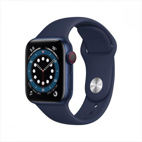 Apple Watch Series 6 GPS + 流動網絡, 鋁金屬錶殼配運動錶帶 2020