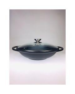 Special Enduro - 32厘米中式炒鑊連玻璃蓋及筷子
