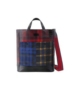 Frequent Flyer Oxford Pocket 手提包 - Scottish Tartan And Bengal Stripe Multi 3 Color