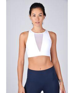 Rising Lotus網狀運動內衣白色