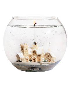 Stoneglow - Unfragranced Candle in Snow Scene Fishbowl 魚缸型玻璃裝無香型裝飾蠟燭 1583-2237