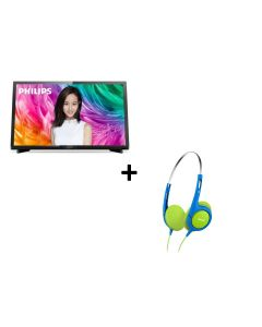"""Philips - 24"""" Full HD Ultra Slim LED Smart TV 24PFD5022 with Philips Kids Headphone SHK1030 (while stocks last) (No Free Installation)"""