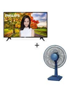 "Philips - 32"" Full HD Ultra Slim LED Smart TV 32PHD5773 + Panasonic - F-301CH Desk Fan (30cm/12"") 32PHD5773gift2"