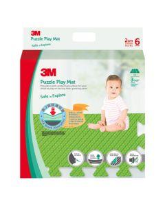 3M™ 兒童安全地墊-方塊型 (綠色)