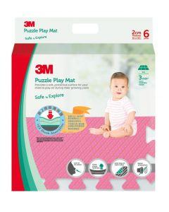 3M™ 兒童安全地墊-方塊型 (粉紅色)
