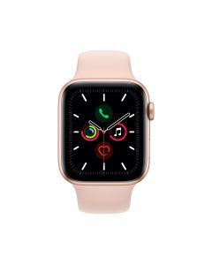 APPLE WATCH SERIES 5 (GPS + 流 動 網 絡) 44MM 金色鋁金屬錶殼配淺粉紅色運動手環 4009691