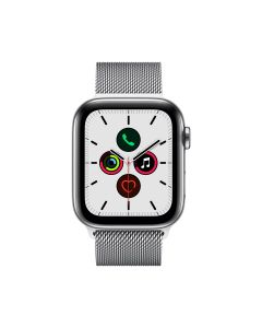 APPLE WATCH SERIES 5 (GPS + 流 動 網 絡 ) 44MM  不 鏽 鋼 錶 殼 配 鋼 織 手 環 4009721